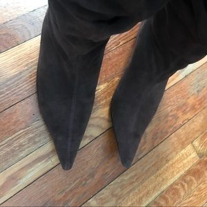 cb559a4f819 Brown Suede Slouchy Kitten Heel Boots 39